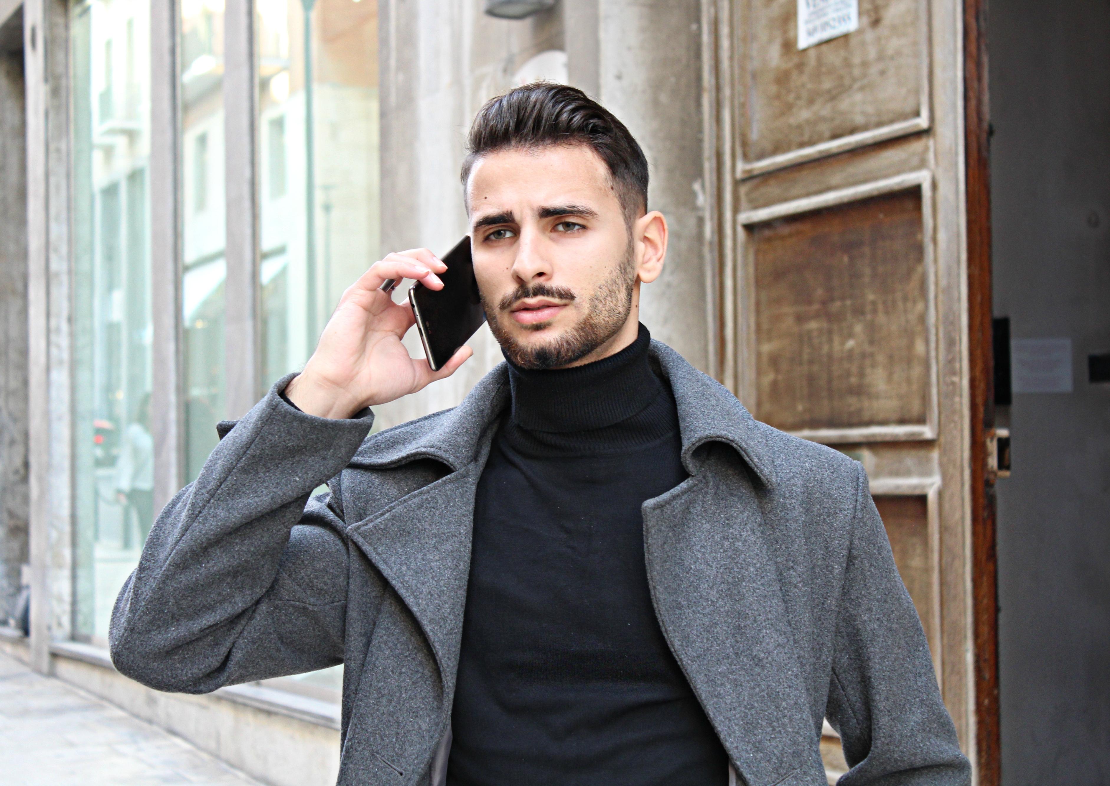 how to combine a long men's coat, corrado firera, firera