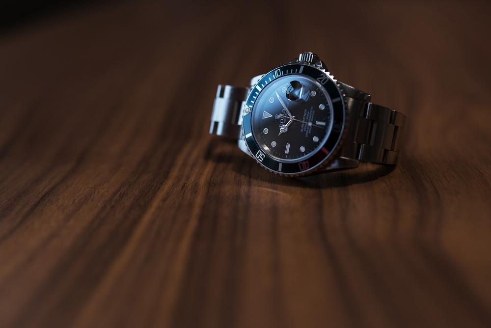 Rolex Submariner, black, green